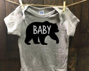 baby bear onesie- boy onesies- girl onesies