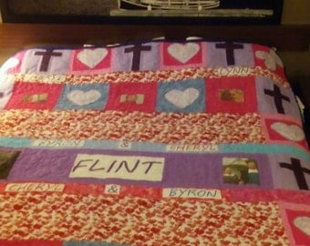Custom  Queen Sized Story Quilt