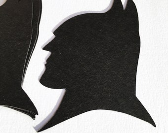 Batman silhoutte set of 12 great for card making ,  scrapbooking , toppers