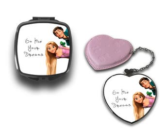 Go Live Your Dreams Tangled Rapunzel Flynn Compact Makeup Handbag Mirror CM088