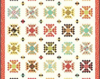Granny Style Scrappy Quilt Pattern by Fig Tree & Co. Fat Eighth Friendly