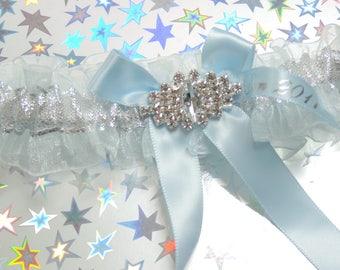 Light blue prom garter,  Blue prom garter,  Garter for prom,  Formal 2017 garter