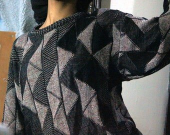 Zig Zag 80s Sweater