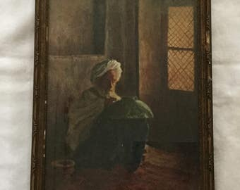 Antique Nineteenth Century A.E. Brewster Man In Turban Painting Bowl Artist Signed Oil Painting