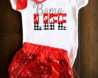 Bama life onesie; Alabama football outfit; baby girl; roll tide shirt