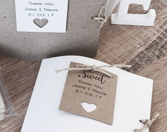 Wedding favor, baby shower, bridal shower gift card package & tag