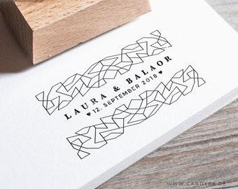 Wedding Stamp • Wedding logo • DIY wedding • Wood stamp which a handle • Lace pattern