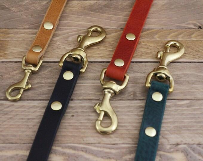Handmade leash, Green leash, Dog leash, Gift, Rustic leather leash, Raven leather lead, Cayenne lead, Strong leash, Dog gift, Leather leash.
