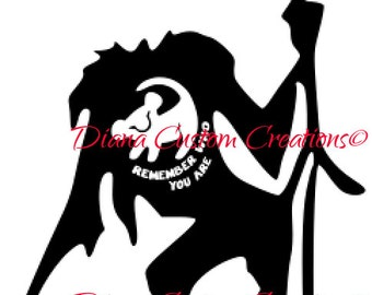 Rafiki and Simba Remember who you are svg cricut silhouette