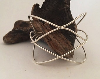 Handmade Sterling silver unique jewelry, cuff, bracelet