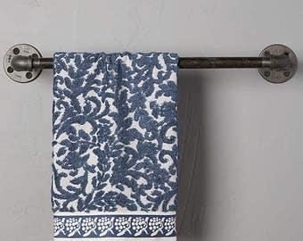 Industrial Pipe Towel Bar, Bathroom Towel Rack