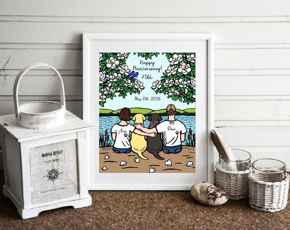 Wedding Gift Ideas For Dog Lovers : Anniversary Gift for Dog Lovers, Personalized Wedding Anniversary ...
