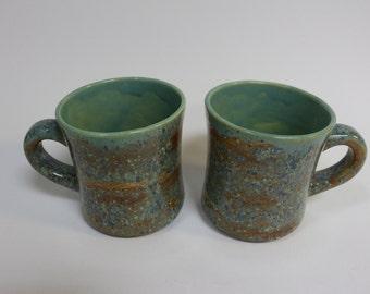 Pair of handmade ceramic mugs