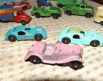 Vintage Metal Cars and Trucks  (set of 13)