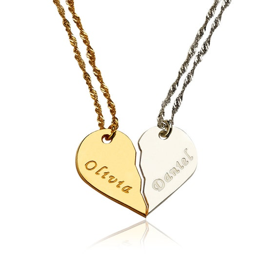 heart necklace for couples - photo #12