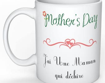 Mother's mug, I have a MOM who rocks, mother's day gift