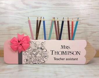 Teacher Sign, Teacher Appreciation Gift, Personalized Gift, Teacher Pencil Sign, Decor, Classroom Decoration, Teacher Sign, Teacher Gift