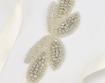 Crystal Wedding Dress Belt, Sash Belt, Bridal Bridesmaid Dress Sash Belt, Crystal Dress Belt, Silver Sash Belt S148S