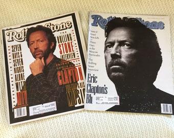 Eric Clapton 2 Rolling Stone Magazines