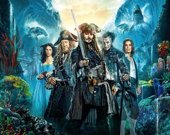 FREE SHIPPING Pirates of the Caribbean: Dead Men Tell No Tales mpvie poster 11x17