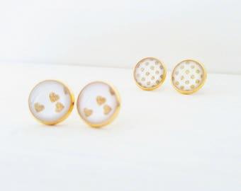 Cabochons - Plaqué or - 12 mm - Parures dorées