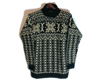 Ralph Lauren Country Vtg Sweater Ralph Lauren Black Vintage Sweater Ralph Lauren Vintage Snowflake Sweater Retro Sweater Retro Polo Knits