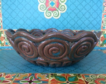 Display Bowl Coiled Earthenware Clay