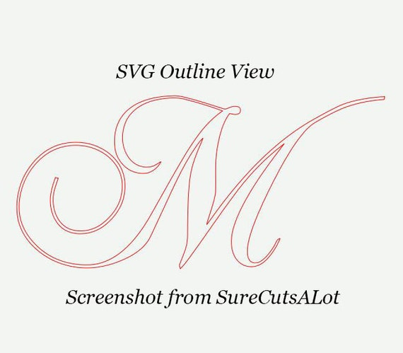 Chopin Script SVG, Fancy Script Monogram Font Svg, Dxf