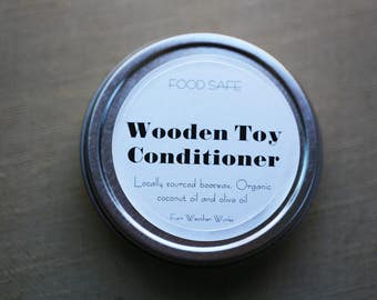 Wooden toy conditioner - non-toxic, child-friendly, wood polish - wood finishing wax