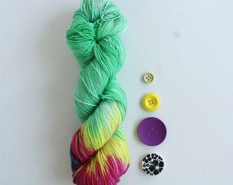 Natu-Much: 100g superwash merino wool sock yarn with a Pokemon theme