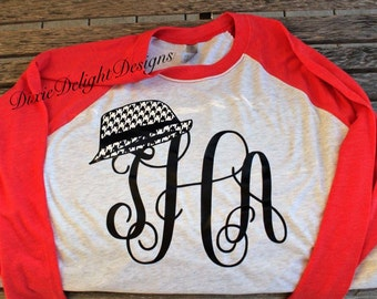 Alabama Houndstooth Hat Monogram Shirt