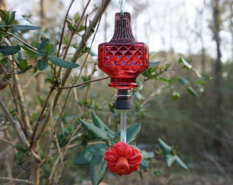 Small Glass Hummingbird Feeder