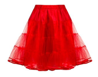Red tulle petticoat, 1950s style petticoat, 3 layers petticoat, full pin up petticoat, tulle underskirt