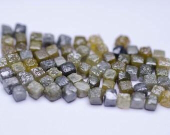 2.00MM-2.20MM 7 to 9 Diamonds per Carat Natural Rough Cube Diamond Brut Roh Diamant Rohdiamant