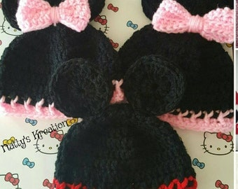 Minnie / Mickey Mouse hat