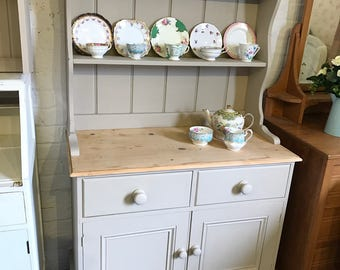 Kitchen Dresser kitchen dresser plate rack kitchen furniture update builder grade kitchen cabinets plate rack cabinet A Country Pine Hand Painted Welsh Dresser