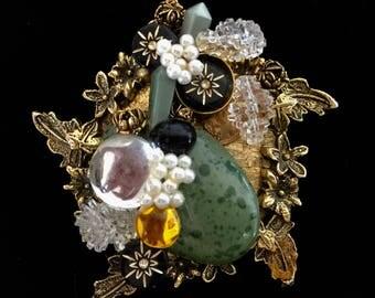 Handmade Ecletic Brooch