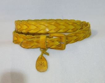 NEW COLLECTION-women's vintage hand-woven Belt. Genuine leather with buckle. Various colors. Handmade product.
