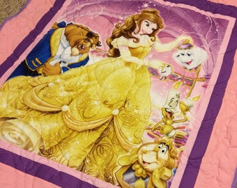 Beauty and the Beast Quilted Blanket