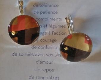 """""""Geometric"""" Silver earrings"""