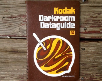 1970's Kodak Darkroom Dataguide for Black and White . Photography Book . 1977 Polaroid Developing . Reference Guide Student Teacher . Film