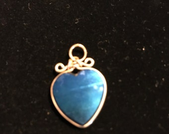 Beautiful 14 karat trimmed blue stone. Purchased in the 1980s
