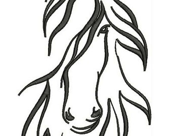 AH 010 Horse - Machine Embroidery Design, four sizes