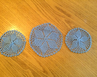 Crochet Doilie Set of 3