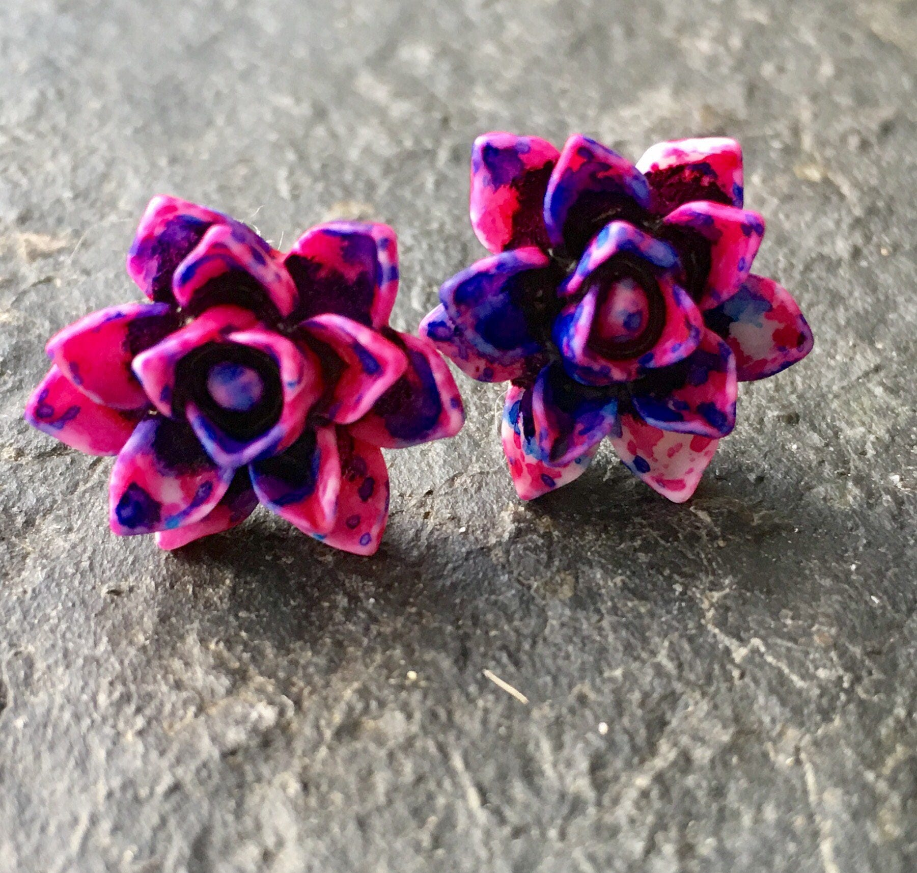bright accessories flower us purple oasis jewelry fuschia drop pink earrings