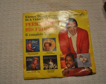 Perry Como and His Friends 6 complete Hits RCA Victor 45, with Sleeve