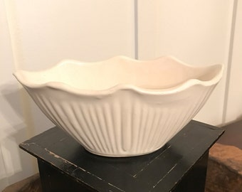 Vintage Shawnee Pottery White Planter Catch-All Bowl | Marked #627 USA