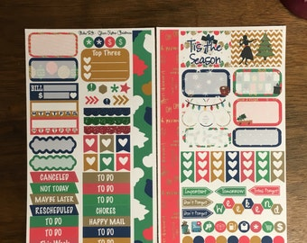 Retro Glam Christmas Medium Personal MM Stickers Louis Vuitton Mambi Inkwell Press Filofax Kikki K Happy Life Planner LV holiday winter