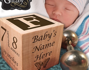 Baby info announcement blocks, baby Display, baby info blocks, cute elephant themed wood blocks nursery decor baby shower gift