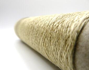 Linen Stainless Steel Yarn - Gold / Linen Steel / Linen Steel Yarn / Lace Weight / Habu Yarn / Knitting / Crochet / Weave / Scarf / Habu